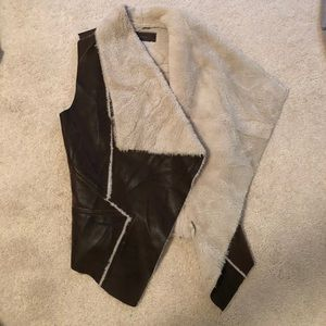 Blank NYC faux fur / leather vest